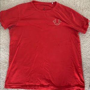 True Religion Red Shirt Mens Large